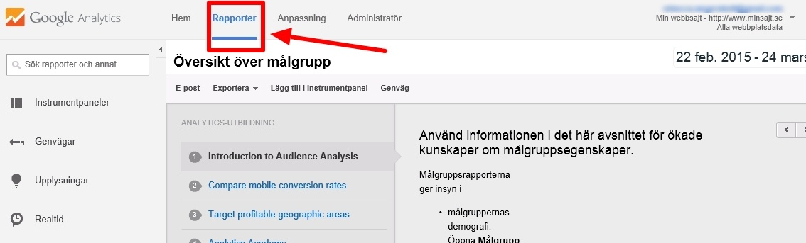 Google Analytics steg 4